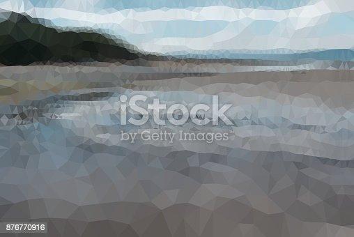 653305952 istock photo Geometric Minimalist Abstract Landscape 876770916