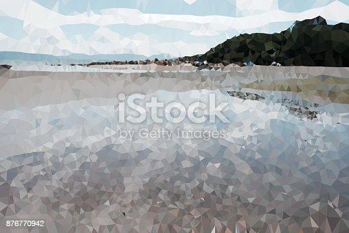 653305952 istock photo Geometric Minimalist Abstract Landscape 876770942