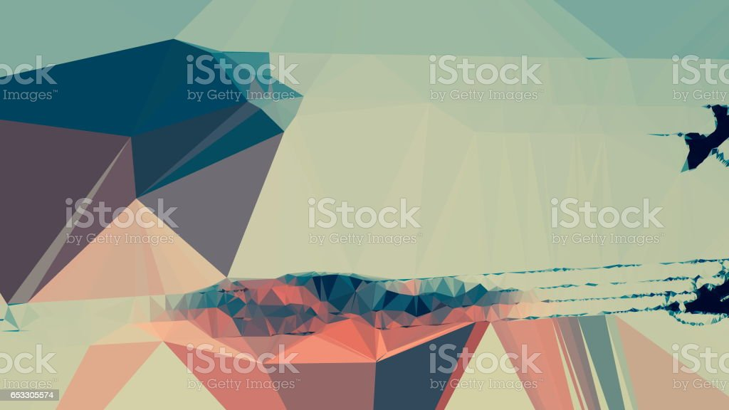 Geometric Minimalist Abstract - foto stock