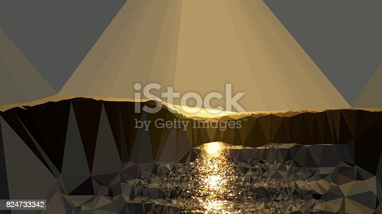 916322742 istock photo Geometric Minimalist Abstract Sunset 824733342
