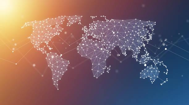 world map dots stock photos