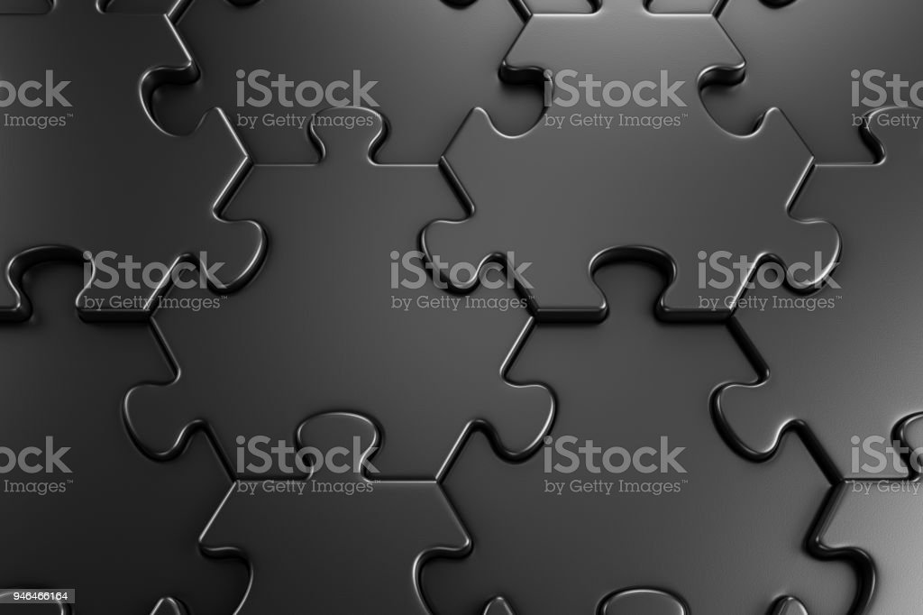 Geometric Pattern Of Jigsaw Puzzle stock photo
