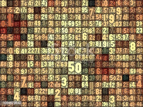 istock Geometric pattern with random numbers 1054879540
