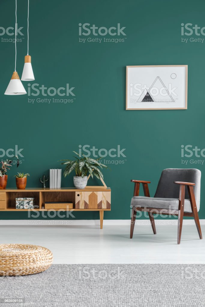 Geometric poster on the wall - Royalty-free Apartment Stock Photo