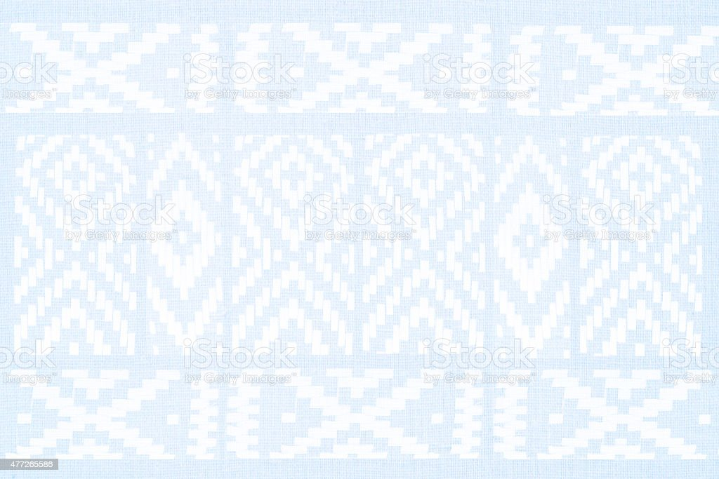 geometric print on jeans texture - graphic background stock photo