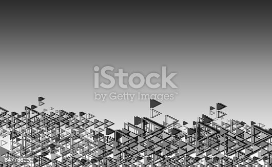 508945010 istock photo Geometric shape abstract background gray 647786202