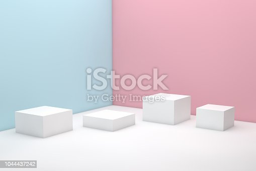 3d rendering colorful pastel background geometric shape abstract still life scene