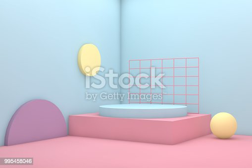 3d rendering colorful background geometric shape abstract still life scene