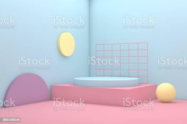 3d Geometrische Vormen Abstract Minimaal Achtergrond Stockfoto en meer beelden van Abstract