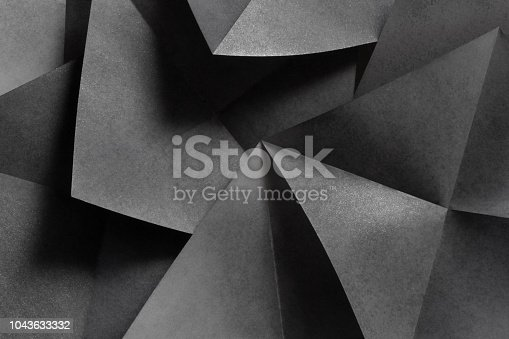 istock Geometric shapes in black and white, abstract background 1043633332