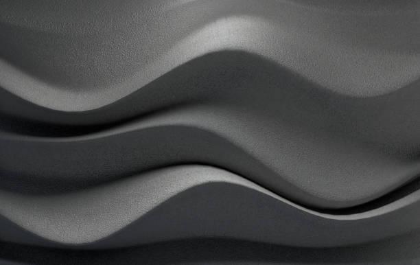 formes géométriques structure abstraite design d'intérieur. fond de mur en béton. mur d'onde de rendu 3d - motif en vagues photos et images de collection