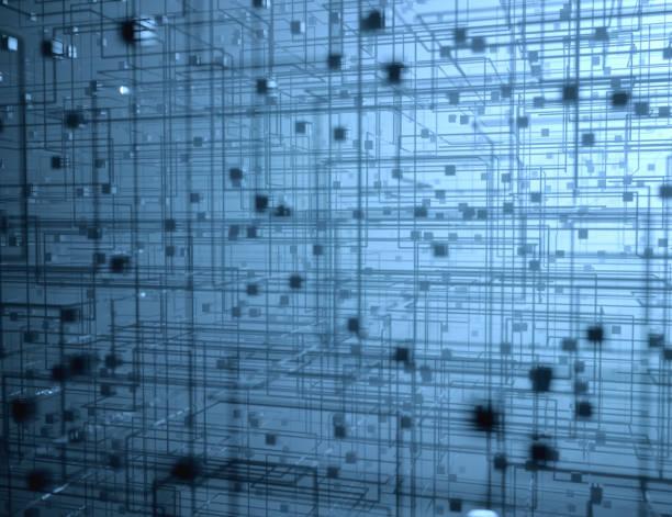 Geometrische Struktur abstrakten Hintergrund Binärblöcke – Foto