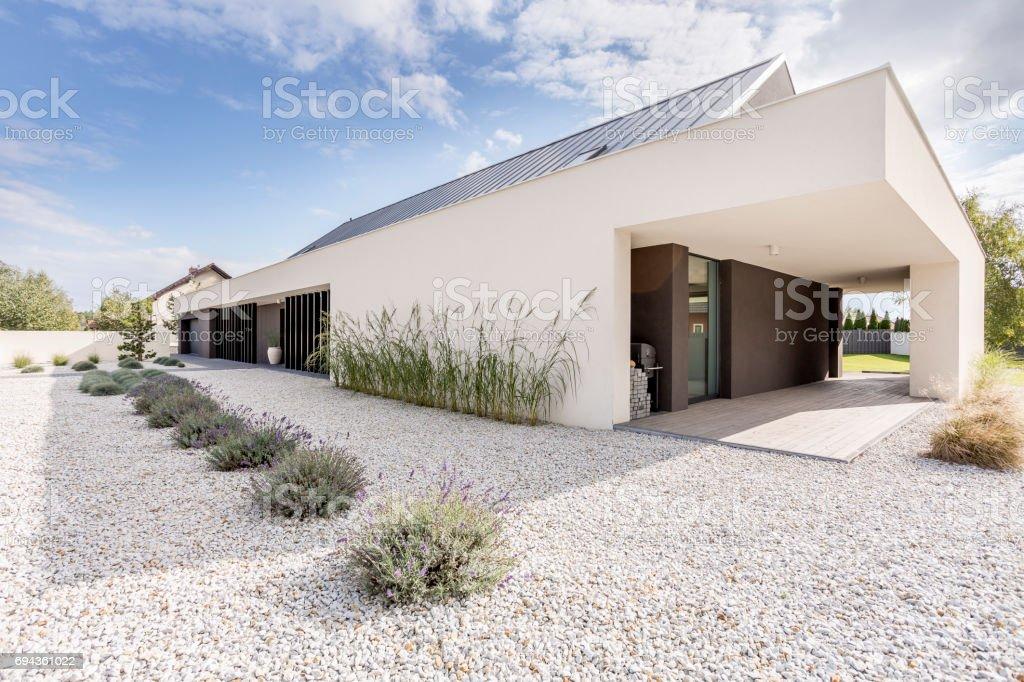 Villa de estilo geométrico - foto de stock