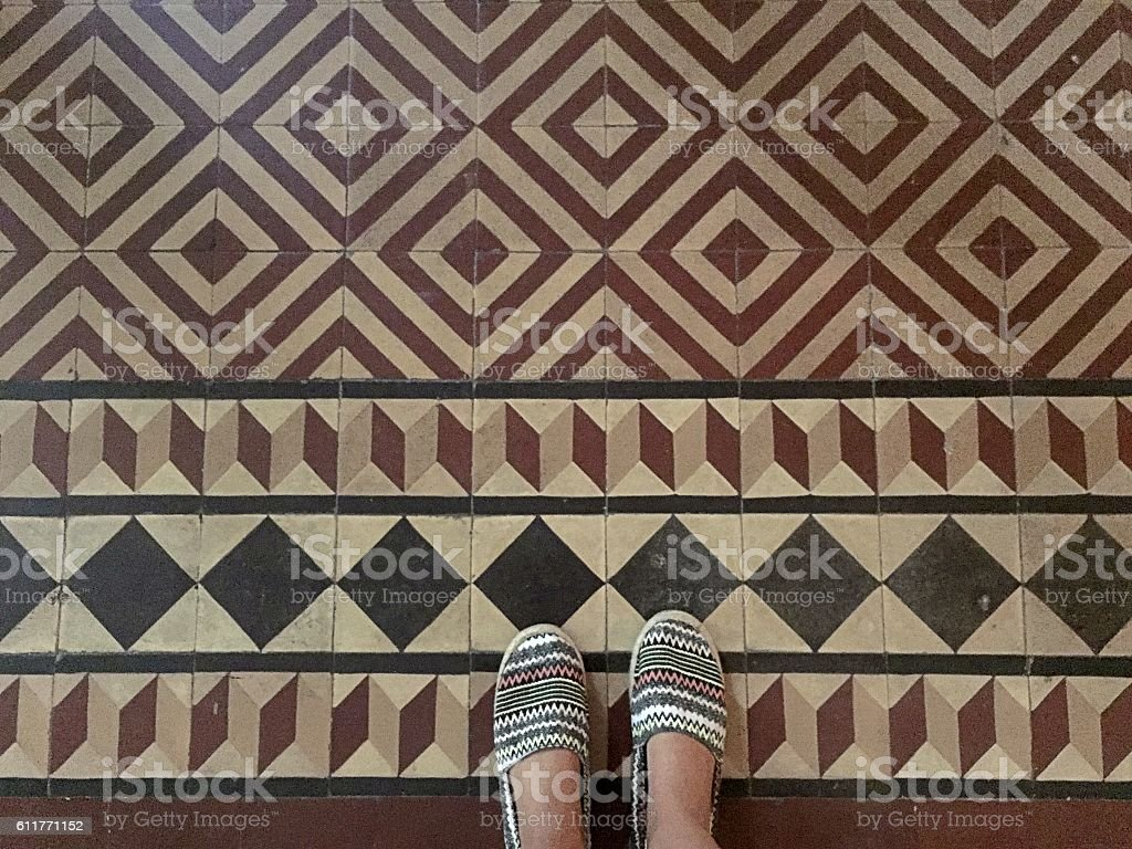Geometric tiles stock photo