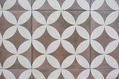 Geometric vintage Pattern floor background.