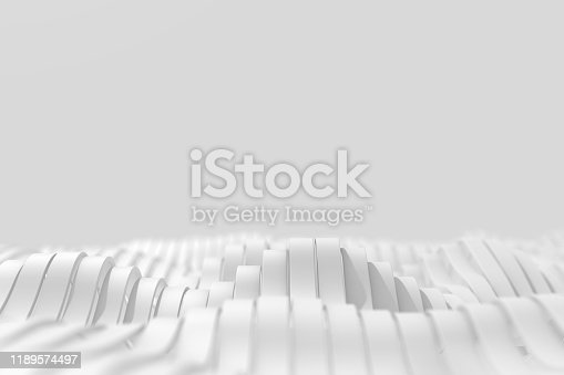 Geometric waves. Abstract white background.