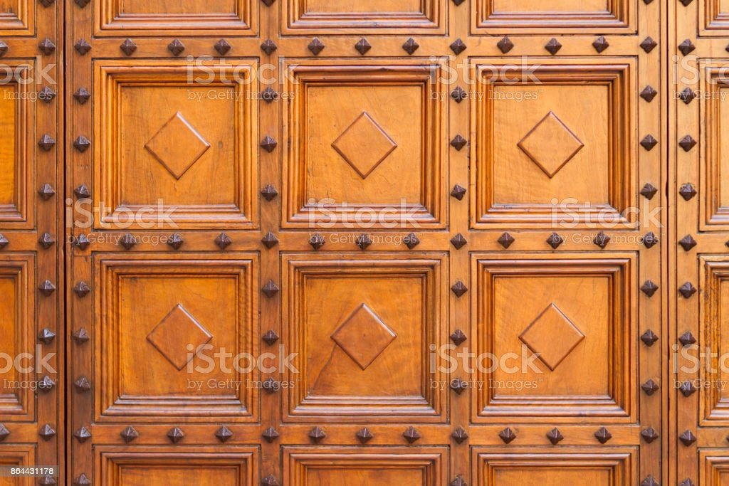 Geometric wood texture with inlay wooden panels. Backgrounds and textures. stock photo
