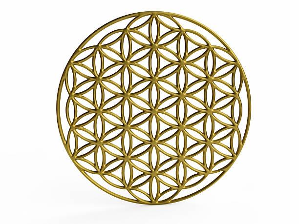 """geometrische abbildung von """"blume des lebens"""" - lotus symbol stock-fotos und bilder"""