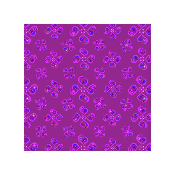 Geometrical flowers  pattern stock photo