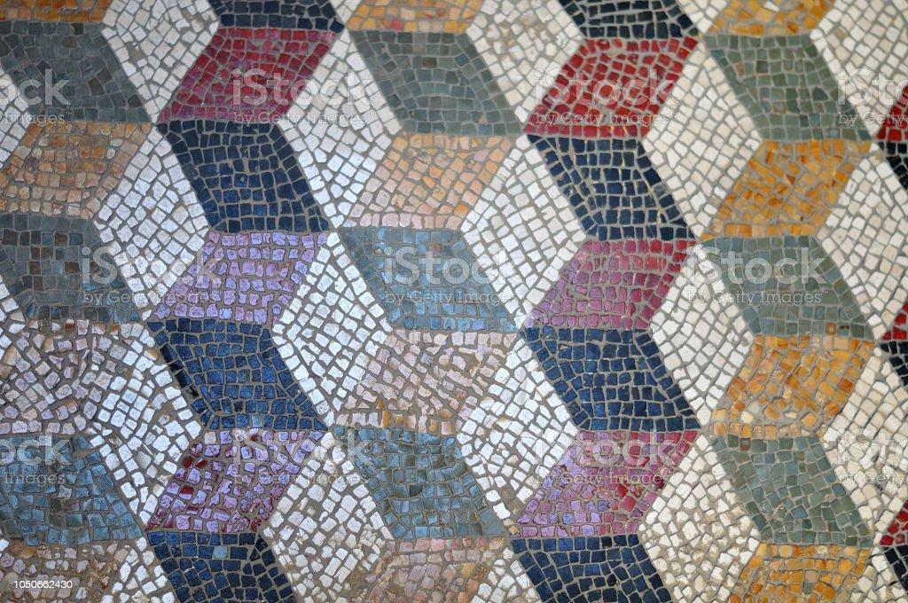 geometrische Muster im antiken römischen Stock – Foto