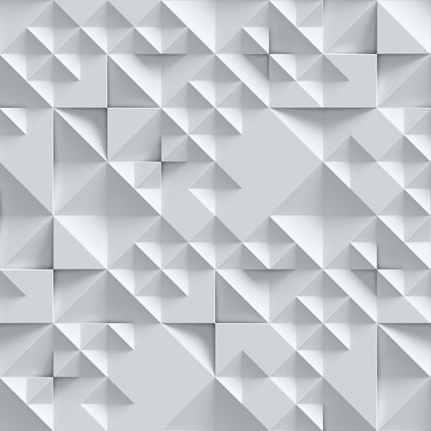 geometrical seamless 3d background - triangle shape stock photos and pictures