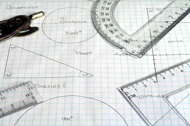 Geometría - foto de stock