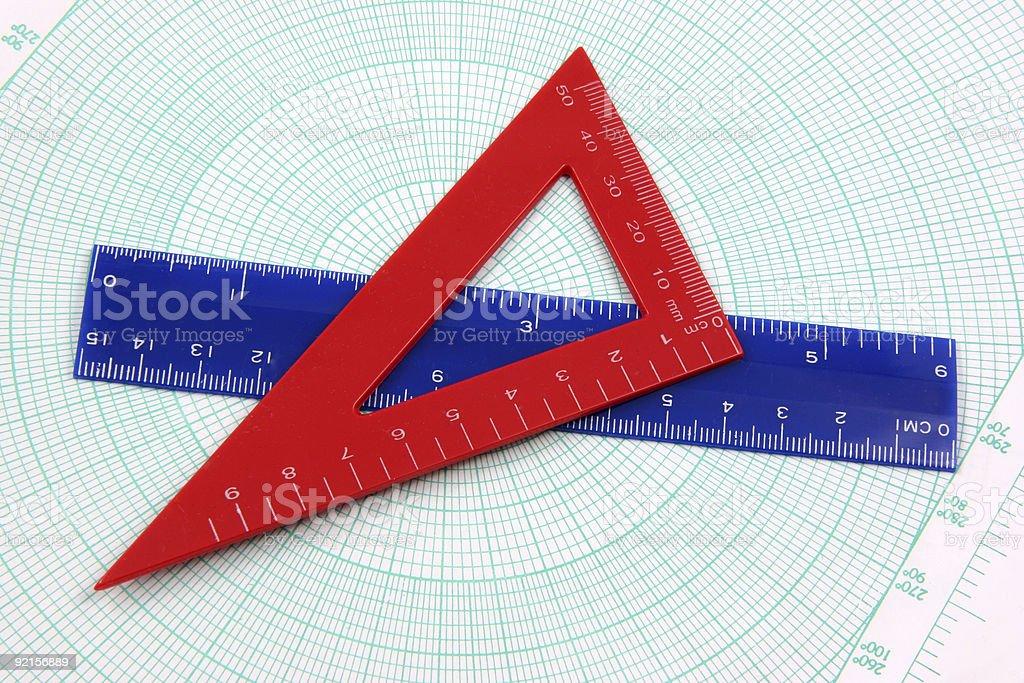 Geometry study tools royalty-free stock photo