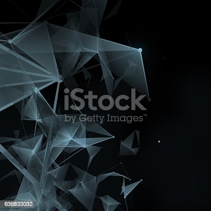 istock Geometry surfaces, lines and points background 636833032
