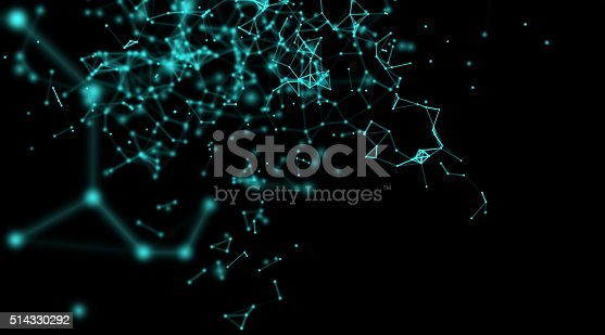 istock Geometry surfaces, lines and points background, Used as digital wallpaper 514330292