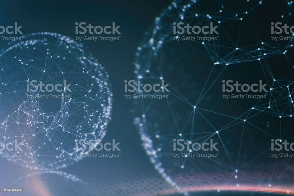 Geometry surfaces, lines and points background, Used as digital wallpaper stock photo