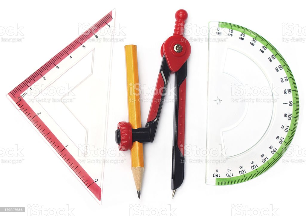 Geometry tools royalty-free stock photo