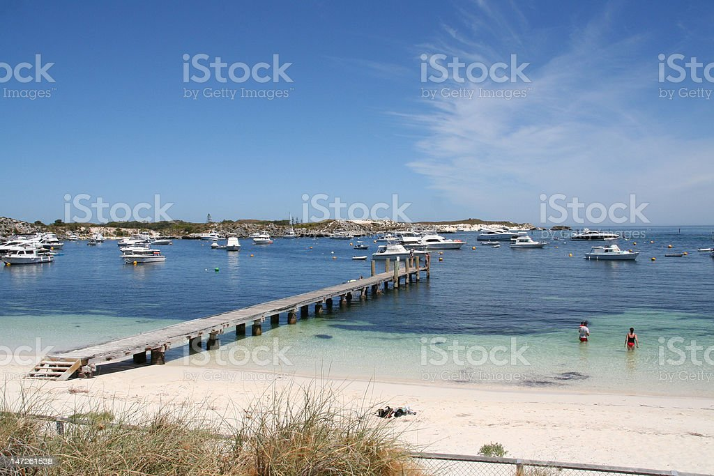 Geordie Bay,Rottnest Island,Perth stock photo