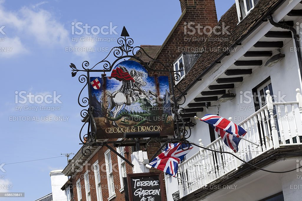 George and Dragon public house at Westerham, Kent stock photo