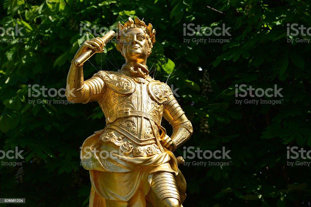 George II, Royal Square, St.Helier, Jersey, U.K. stock photo