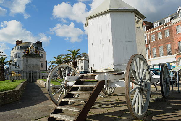 george iii's bathing machine - weymouth stock photos and pictures