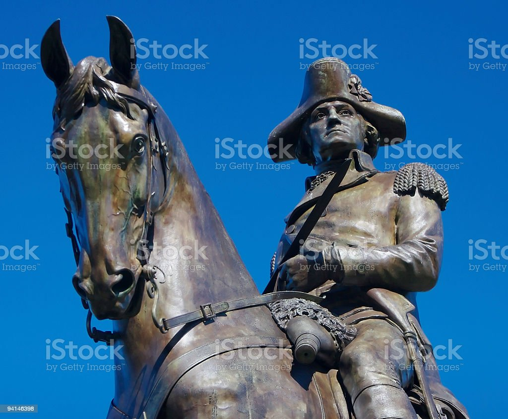 George on a Horse royalty-free stock photo