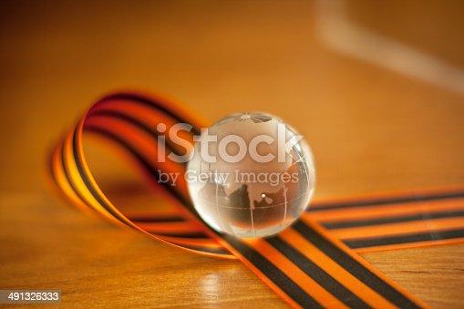 istock George Ribbon and glass globe, Russia 491326333