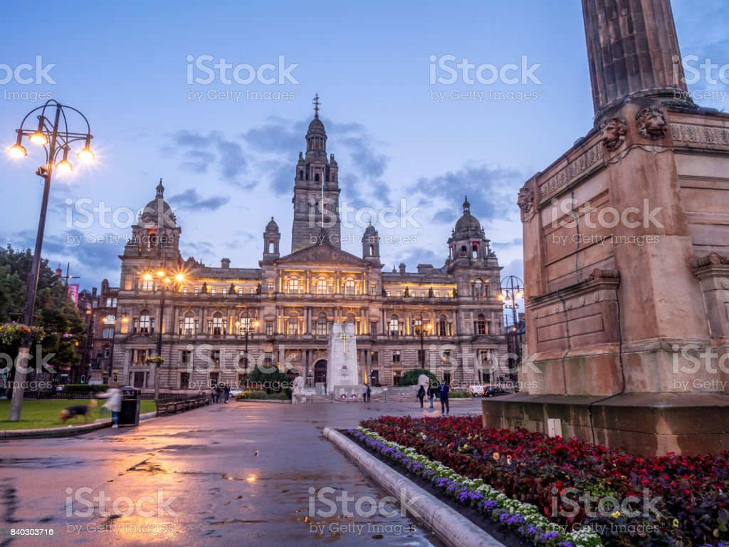 George Square, Glasgow - foto stock