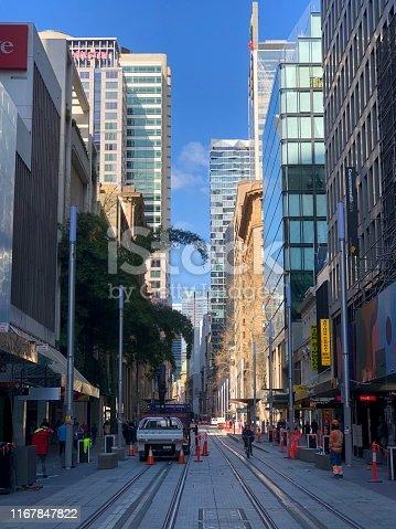 George Street In Sydney.