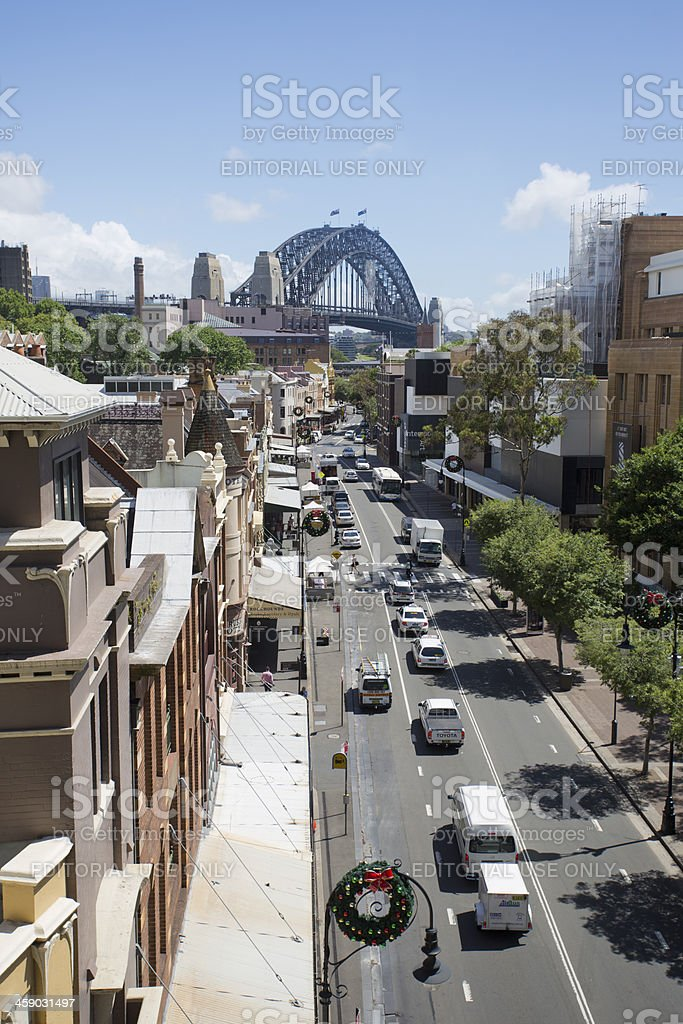 George Street Sydney royalty-free stock photo