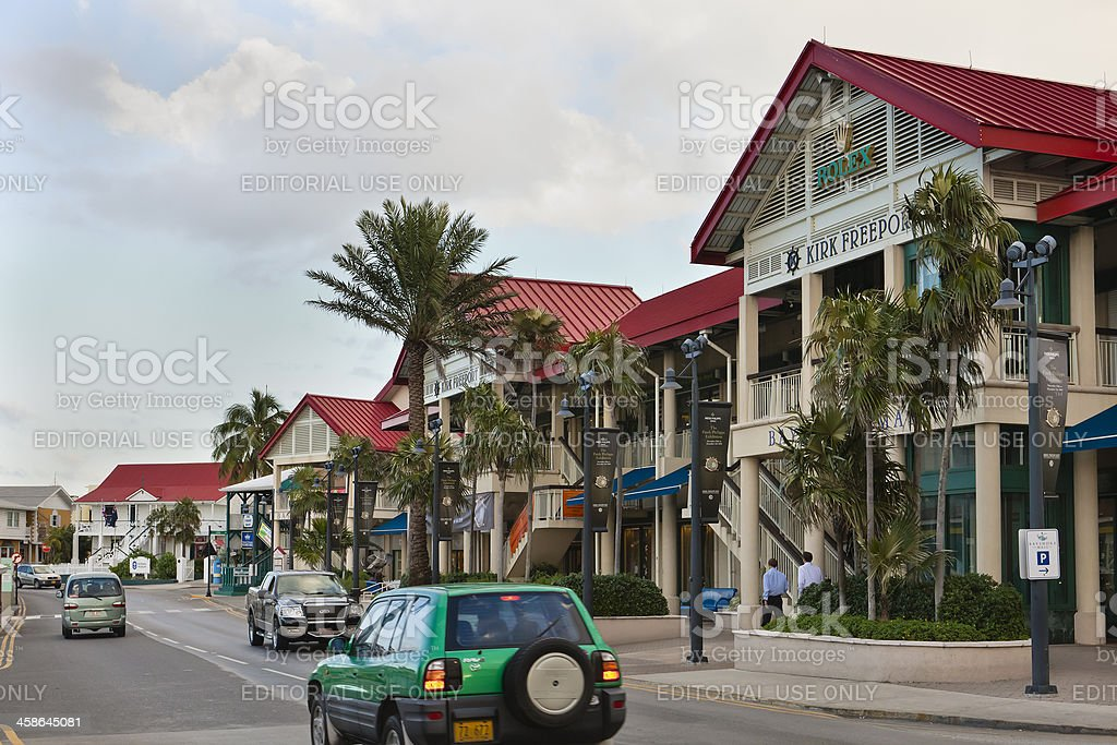 George Town City Centre, Grand Cayman royalty-free stock photo