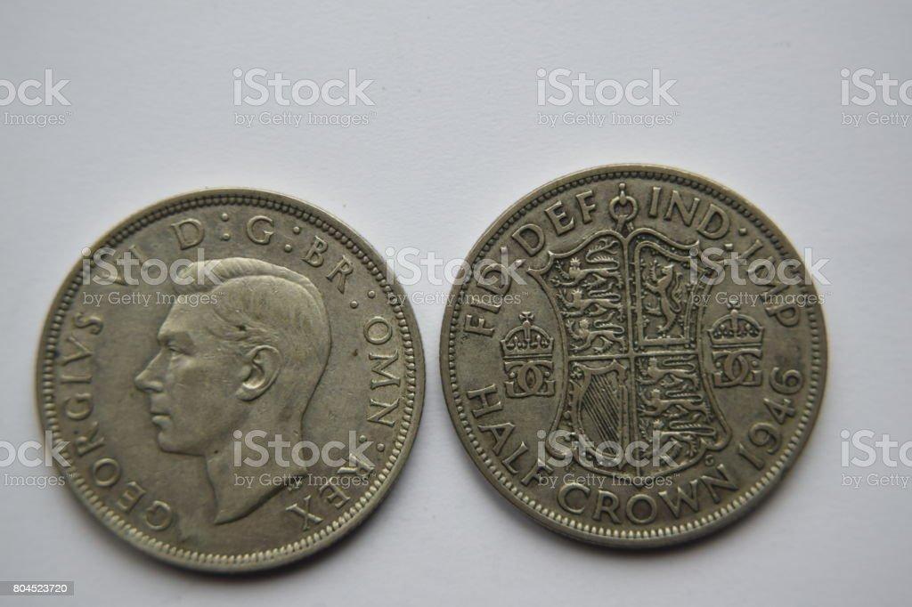 George VI shilling, 1946 stock photo