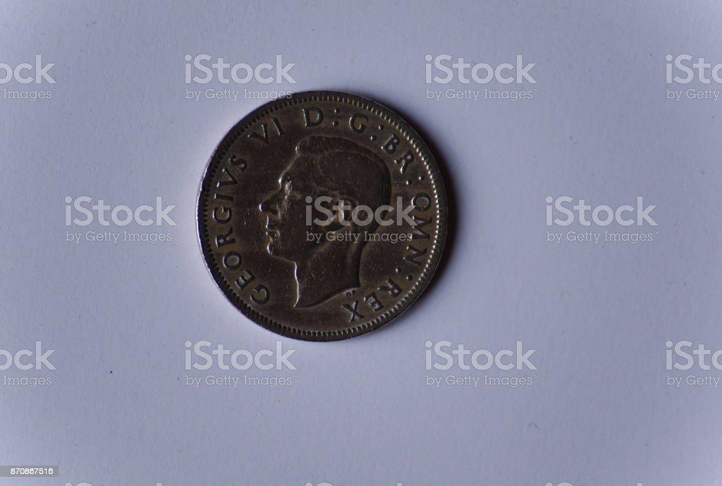 George VI shilling stock photo