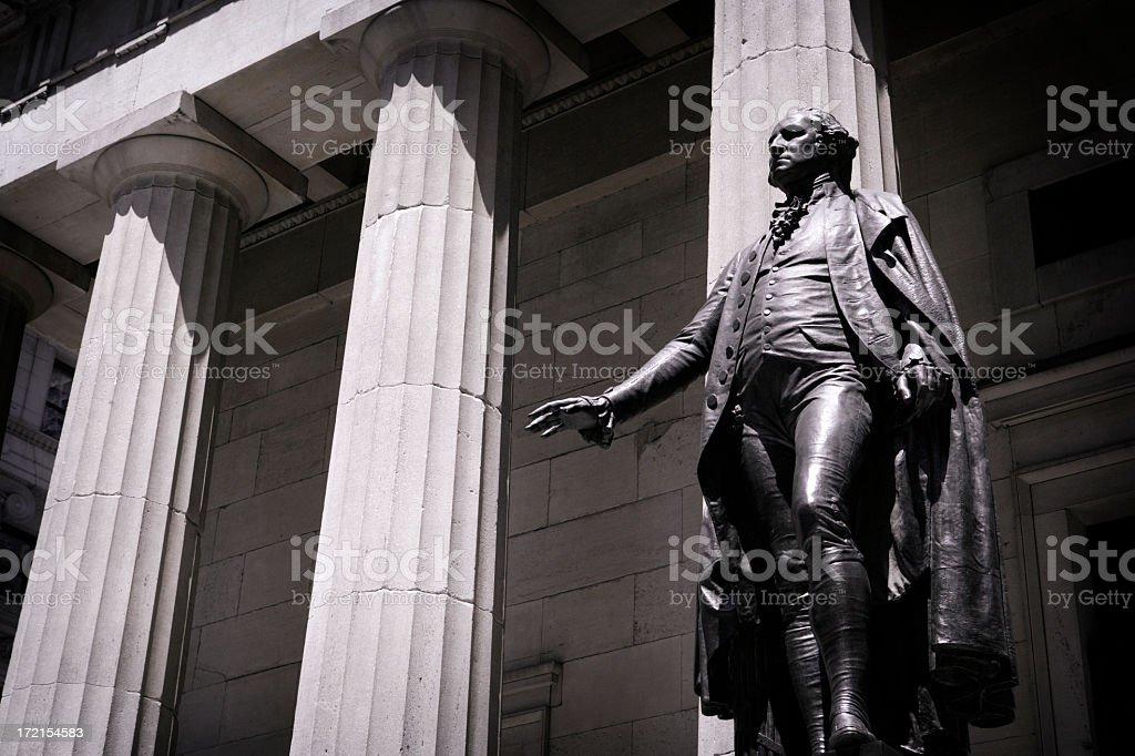 George Wahington Statue stock photo