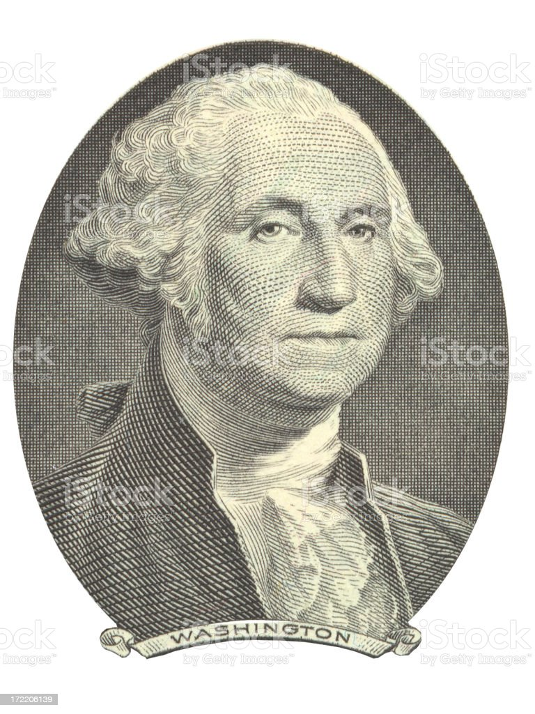 George Washington 2 stock photo