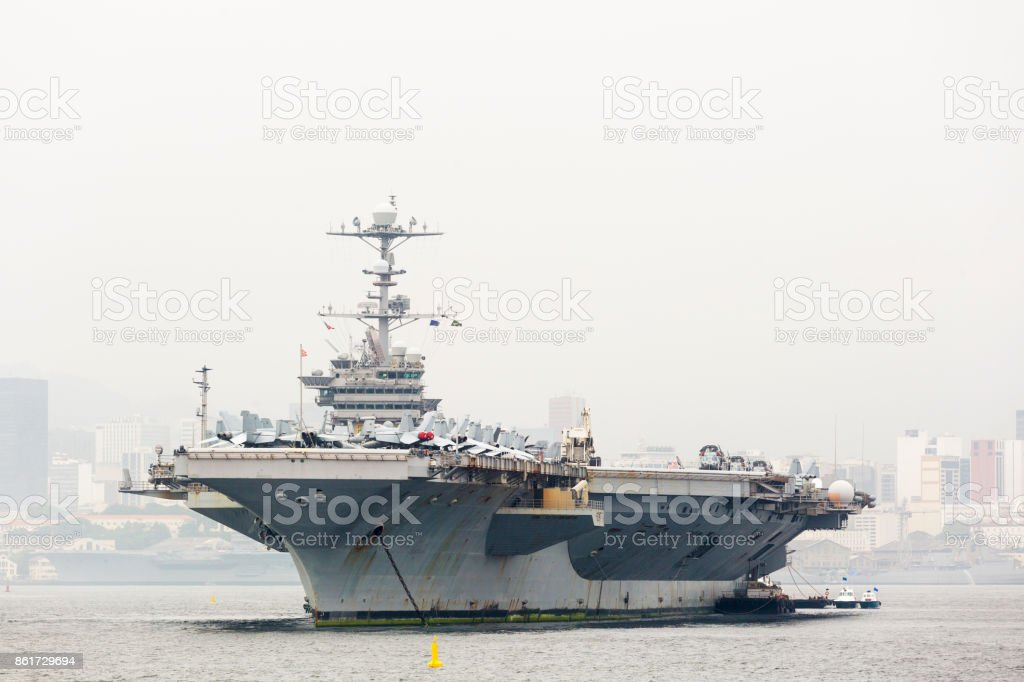 USS George Washington aircraft carrier stock photo