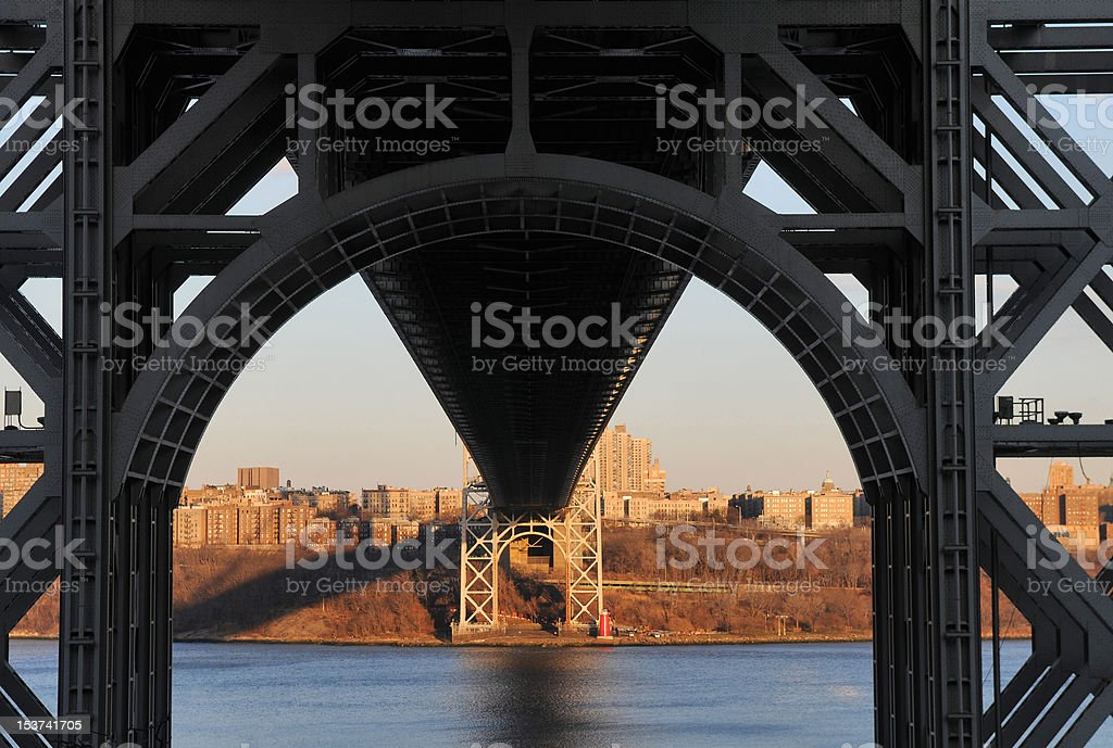 George Washington Bridge from below stock photo