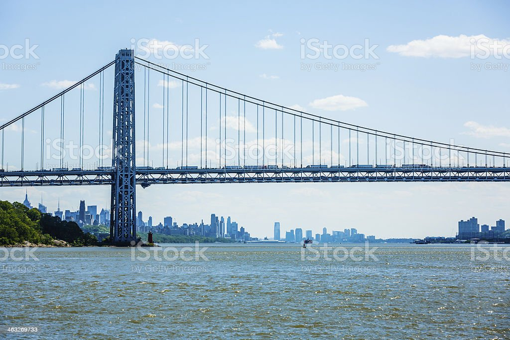 George Washington Bridge, New York City royalty-free stock photo