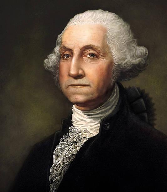 george вашингтон портрет сгенерированное цифровыми методами - президент стоковые фото и изображения