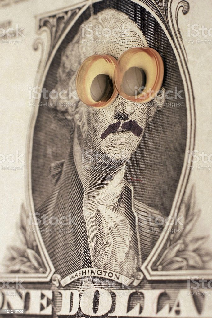 George Washington in Disguise royalty-free stock photo